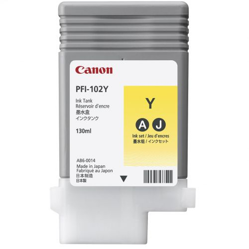 Canon PF1-102Y Ink Tank 130ml Yellow Ref 0898B001AA