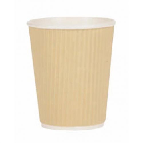 Paper Cup Ripple Wall PE Lining 12oz 340ml Corrugated Case Brown Kraft Ref 0511001 [Pack 500]