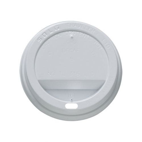 Disposable Sip Thru Lids For Use With 10-20oz Ripple Cups White Ref 0511055 [Pack 1000]