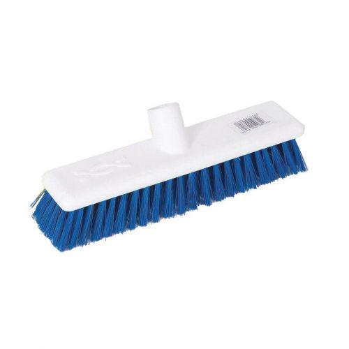Scott Young Research Interchange Hygiene Hard Broom Head 12 inch Blue Ref BHY12HB