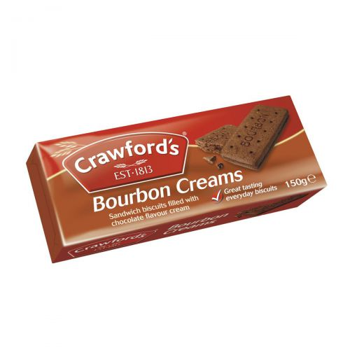 Crawfords Bourbon Biscuits 150g [Pack 12] Ref UTB021