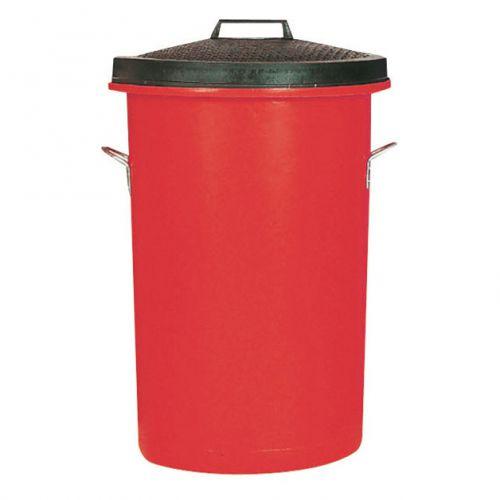 Dustbin Heavy Duty 85 Litres Red