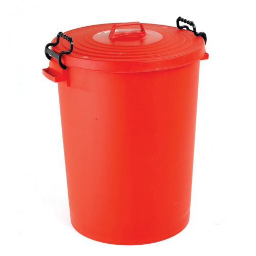 Dustbin with Red Lid 110 Litres