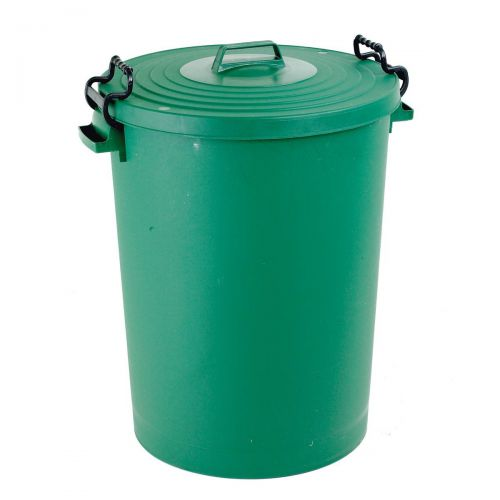 Dustbin with Green Lid 110 Litres