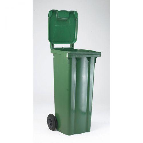 Wheelie Bin High Density Polyethylene with Rear Wheels 80 Litre Capacity 445x525x930mm Green