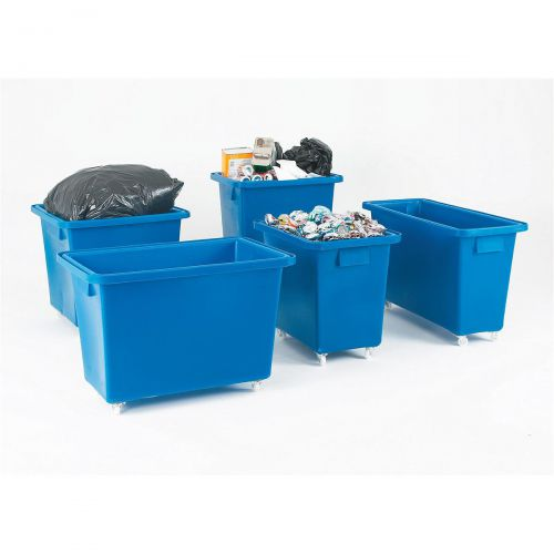 Bottle Skip Four Castors Medium Density Polyethylene 580x410x700mm Royal Blue