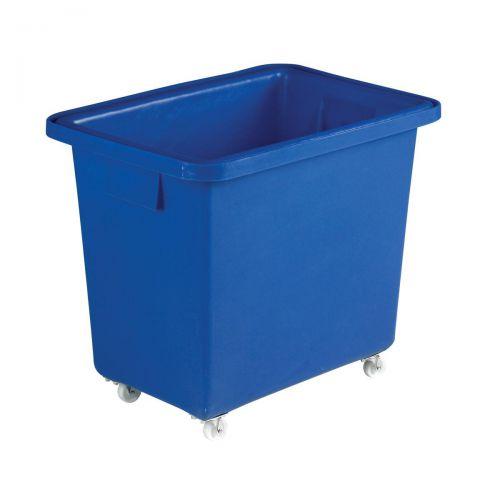 Bottle Skip Four Castors Medium Density Polyethylene 610x405x560mm Royal Blue
