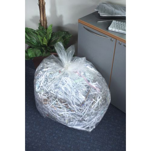 5 Star Facilities Bin Liners Super Heavy Duty 190 Litre Capacity W560/860xH1190mm Clear [Pack 100]