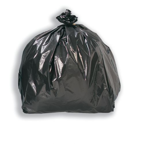 5 Star Facilities Bin Liners Medium/Heavy Duty 85 Litre Capacity W415/660xH955mm Black [Pack 200]
