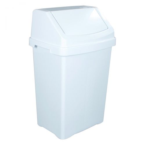 Swing Bin and Lid 50 Litres White