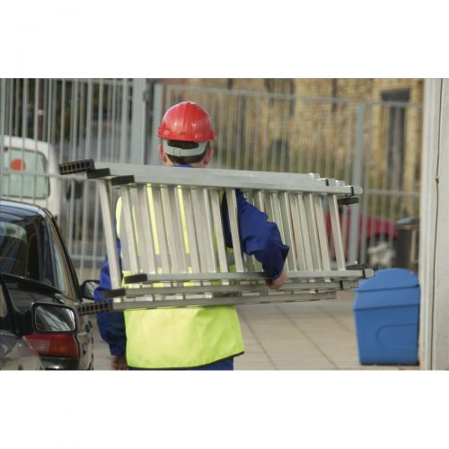 Aluminium Push Up Ladder 3 Section x 8 Rungs Capacity 150kg