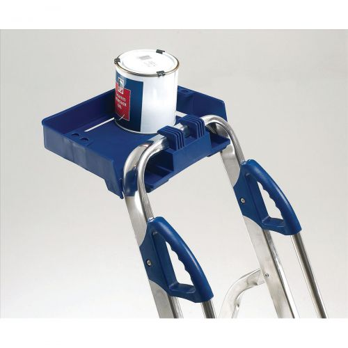 Tradesman Platform Step Ladder 6 Steps Capacity 150kg Silver/Blue