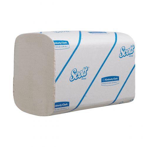 Scott Xtra Hand Towels  White 1 Ply 210x200mm 320 Towels per Sleeve White Ref 6677 [Pack 15 Sleeves]