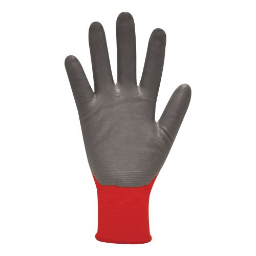 Polyco Gloves Nitrile Foam Coated Size 8 Red/Black [Pair] Ref MRN/08