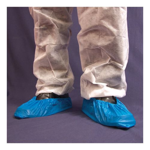 Disposable Overshoe Waterproof Elasticated 14In Blue [Pack 2000]