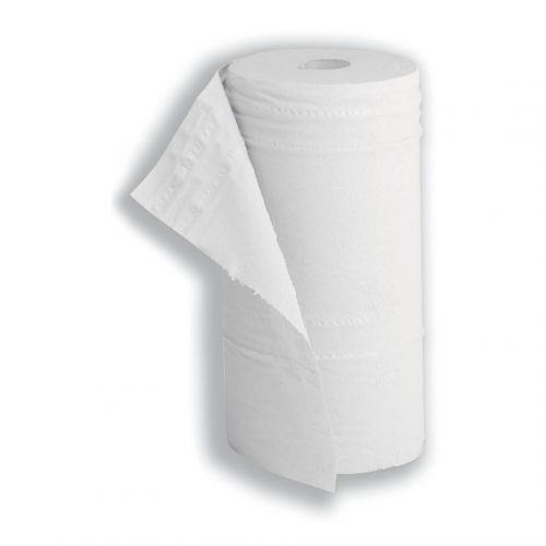 5 Star Facilities Hygiene Roll 10 Inch Width 100 per cent recycled 2-ply 130 Sheets W250xL457mm 40m White
