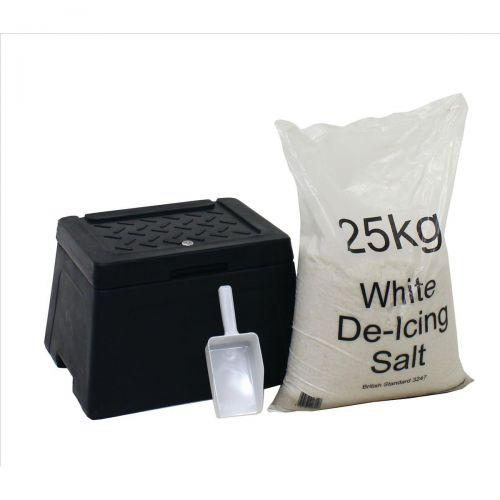 Mini Grit Bin Lockable with Scoop and 25kg Salt Bag