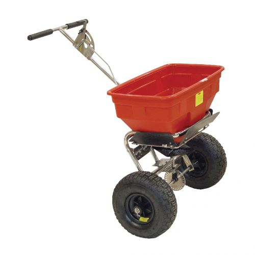 Salt Spreader Coverage 3m Capacity 36kg Pneumatic Tyres Rain Cover Hopper Screen