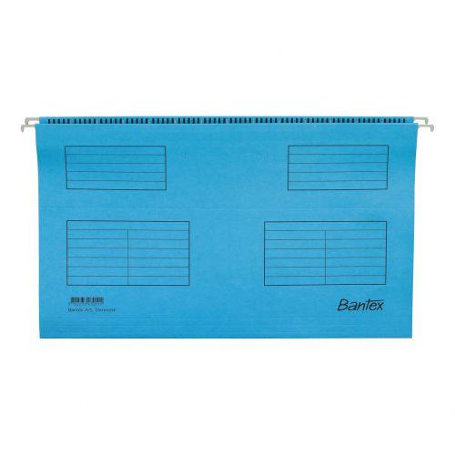 Bantex Flex Suspension File Kraft V-Base 15mm 220gsm A4 Blue Ref 100331432 [Pack 25]