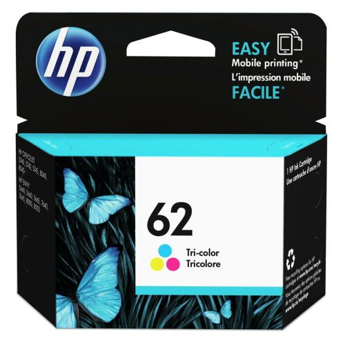 Hewlett Packard [HP] No.62 Inkjet Cartridge 4.5ml Page Life 165pp Tri Colour Ref C2P06AE