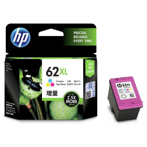 Hewlett Packard [HP] No.62XL Inkjet Cartridge 11.5ml Page Life 415pp Tri-Colour Ref C2P07AE