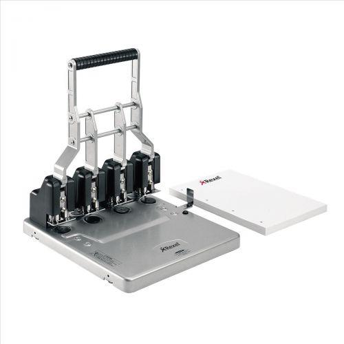 Rexel HD4150 Ultra Heavy Duty 4 Hole Punch Capacity 150 Sheets Adjustable Depth Gauge 9-17 mm Ref 2101235