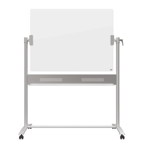 Nobo Diamond Whiteboard Mobile Glass Magnetic Horizontal Pivot 1200x900mm Ref 1903943