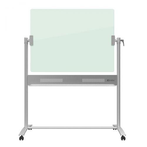 Nobo Diamond Whiteboard Mobile Glass Magnetic Horizontal Pivot 1200x900mm Ref 1903943