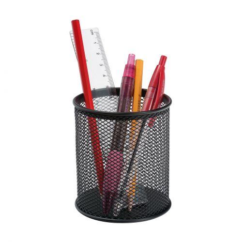 5 Star Office Pencil Holder Wire Mesh Black