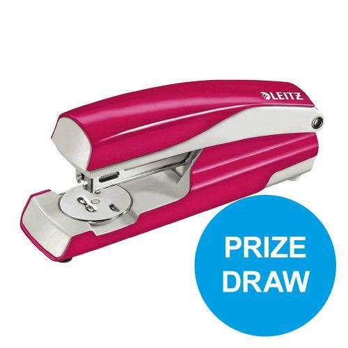 Leitz NeXXt WOW Stapler 3mm 30 Sheet Pink Ref 55021023L [REDEMPTION] Oct-Dec19