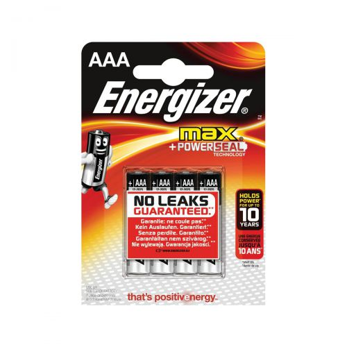 Energizer Max AAA/E92 Batteries Ref E300124200 [Pack 4]