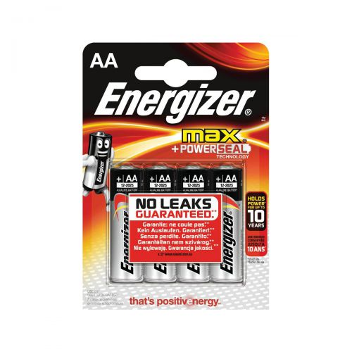 Energizer Max AA/E91 Batteries Ref E300112500 [Pack 4]