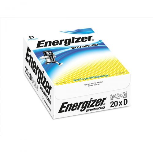 Energizer Eco Advanced Batteries D / E95 Ref E300488200 [Pack 20]