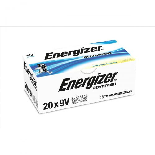 Energizer Eco Advanced Batteries 9V / 522 Ref E300488300 [Pack 20]