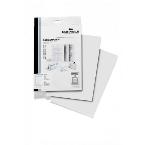 Durable Inserts for Duraprint Badgemaker Card 150gsm A6 Ref 1420/02 (Pack 80)