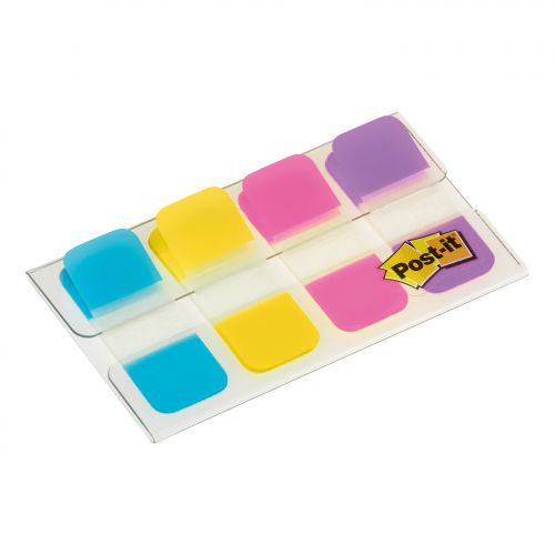 Post-it Index Strong Flags Small Size 4x10mm Ref 676-AYPV [Pack 40]