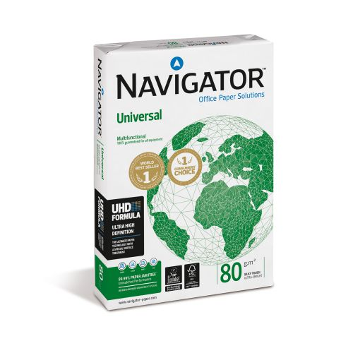 Navigator Universal Paper Multifunctional 80gsm A4 Fast Pack White Ref 127565 [2500 Sheets]
