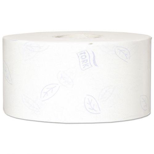 Tork Premium Mini Jumbo Toilet Roll 2-ply Embossed 90x200mm 850 Sheets White Ref 110254 [Pack 12]