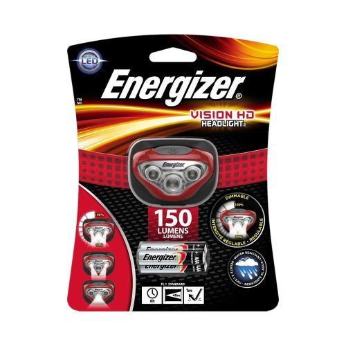 Energizer Vision HD Headlight Dimmable LED 150 Lumens 3 Light Modes Ref E300280500