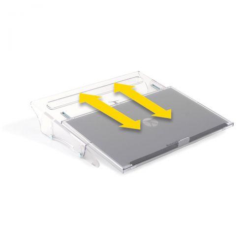 Bakker FlexDesk 640 Document Holder Height-adjustable Clear A3 Ref BNEFDESK640A