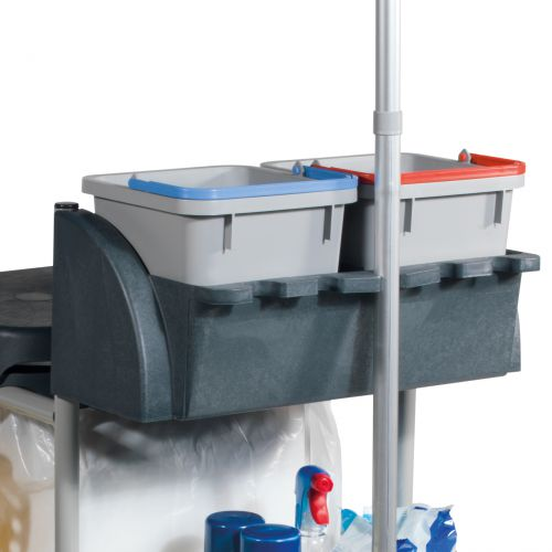 Numatic Xtra-Compact XC-1 Cleaning Trolley with 3 Buckets and 2 Tray Units W570xD840xH1060mm Ref XC1/TM