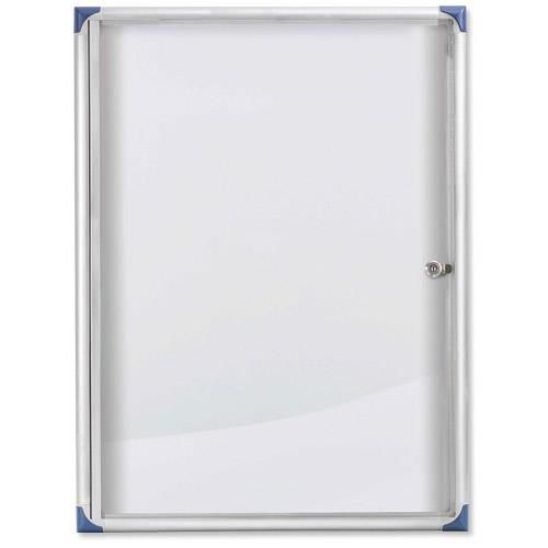 Nobo Noticeboard Extra-flat Glazed Case Lockable Magnetic Steel 6xA4 W785xD40xH812mm Ref 1900847