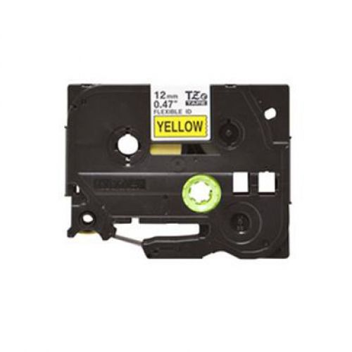 Brother P-Touch TZe-631S 12mmx4m Black On Yellow Labelling Tape Ref TZE631S 3to5 Day Leadtime