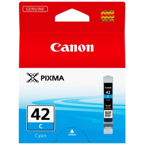 Canon CLI-42 Cyan Ink Cartridge Page Life 600pp 13ml Ref 6385B001