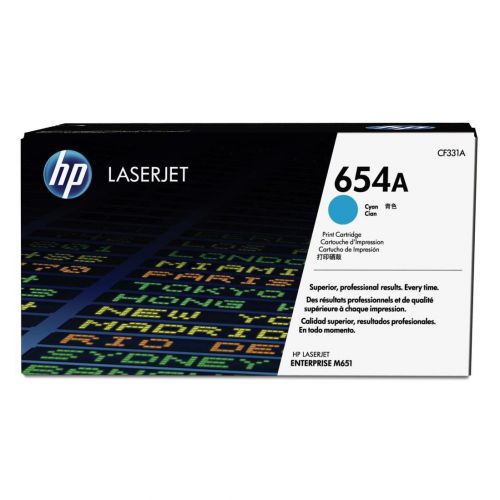 HP 654A Laser Toner Cartridge Page Life 15000pp Cyan Ref CF331A