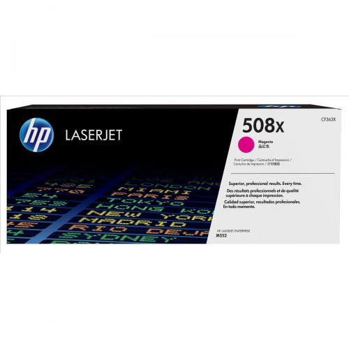 HP 508X Laser Toner Cartridge High Yield Page Life 9500pp Magenta Ref CF363X