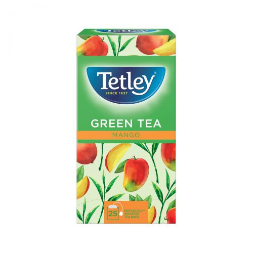 Tetley Individually Enveloped Tea Bags Green Tea with Mango Ref 1578a [Pack 25]