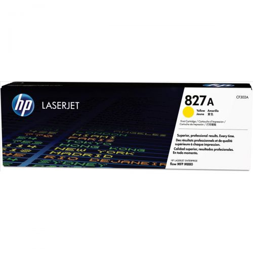 HP 827A LaserJet Toner Cartridge Page Life 32000pp Yellow Ref CF302A