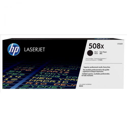 Hewlett Packard [HP] 508X LaserJet Toner Cartridge Page Life 12500pp Black Ref CF360X