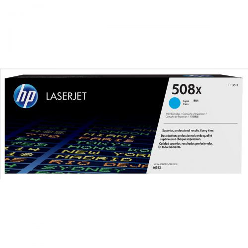 HP 508X Laser Toner Cartridge High Yield Page Life 9500pp Cyan Ref CF361X